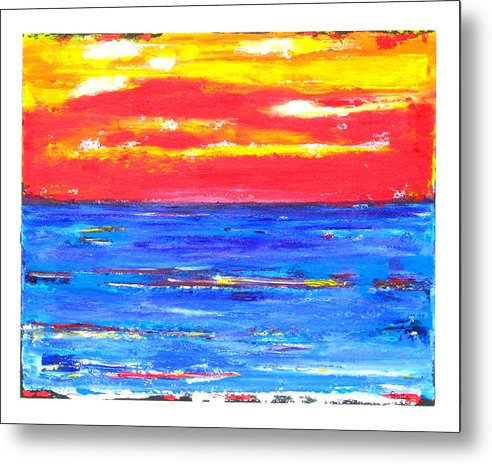 Caribbean Metal Print featuring the painting Knife Sky by Sula Chance