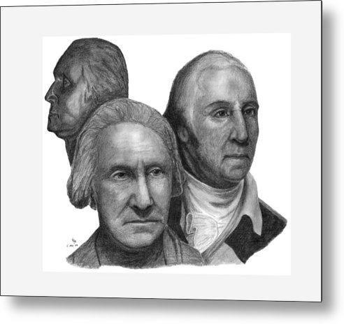 Washington Metal Print featuring the drawing President George Washington by Charles Vogan