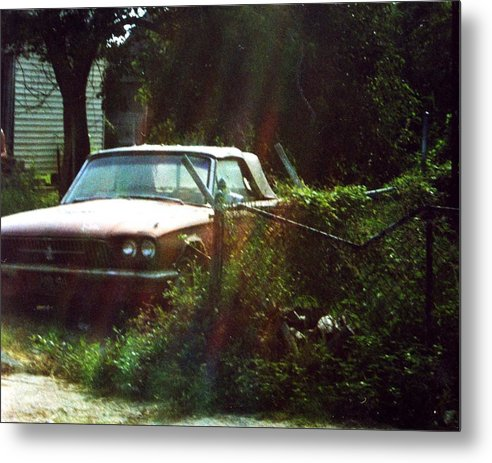 Car Metal Print featuring the photograph Stuck In Desire by Jennifer Ott