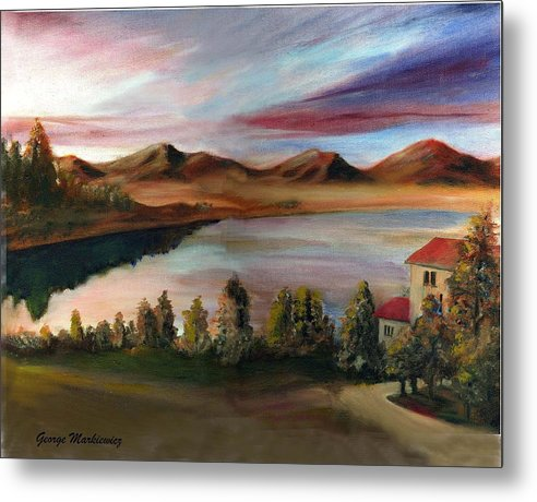 Lake Landscape Metal Print featuring the print Sunrise Lake by George Markiewicz