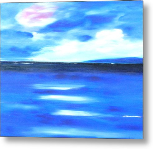 Caribbean Metal Print featuring the painting Sea Blue Sky by Sula Chance
