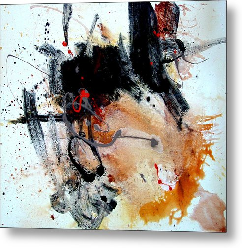 Abstract Metal Print featuring the painting Resolving Issues by Dale Witherow