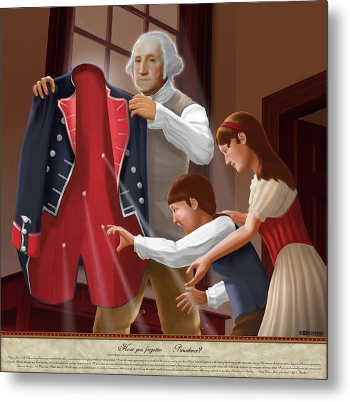 American Metal Print featuring the painting Have You Forgotten Providence by Brett H Runion
