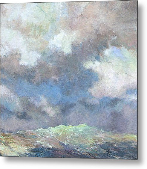 Seascape Metal Print featuring the painting Sea Glow by Marilyn Muller