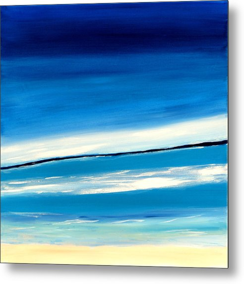Caribbean Metal Print featuring the painting Manzanilla View II by Sula Chance