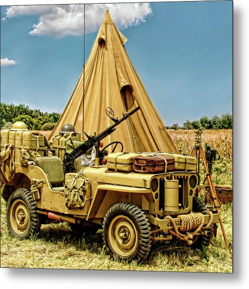 Jeep Metal Print featuring the photograph In The Field by Dale Jackson