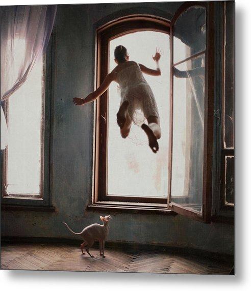 Floating Metal Print featuring the photograph Modern Margarita by Anka Zhuravleva