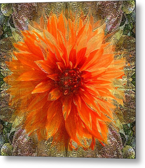 Digital Art Metal Print featuring the photograph Chrysanthemum by Tom Romeo