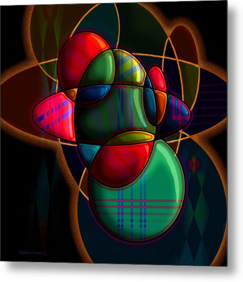 Modern Metal Print featuring the digital art Tactile Space I by Stephen Lucas