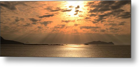 Sunset Metal Print featuring the photograph Sunset Blasket Islands by Barbara Walsh