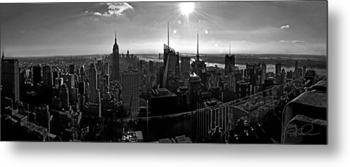 Black And White Metal Print featuring the photograph Midtown South Bw by S Paul Sahm
