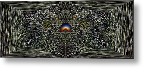 Abstract Metal Print featuring the digital art All That Glitters by Tim Allen
