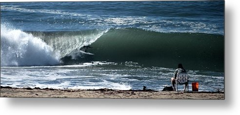 Ocean Metal Print featuring the photograph Catching The Big One by Gerald Carpenter