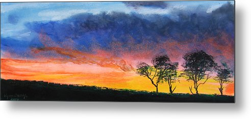 Sunset Metal Print featuring the painting Dancing On Sundays by Wynn Creasy