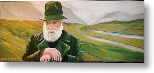 Irish Landscapes Paintings Ireland The Field Richard Harris Leenane Co Galway J.b Keane Metal Print featuring the painting Richard Harris In The Film Called The Field by Cathal O malley