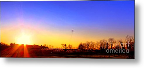 Jet Metal Print featuring the photograph Taking Off by Olivier Le Queinec