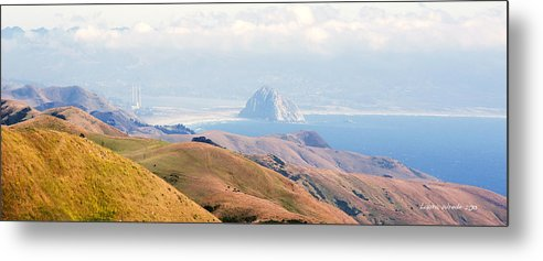 Big Sur Metal Print featuring the photograph Morro Bay Rock Vista Overlooking Highway 46 Paso Robles California by Artist and Photographer Laura Wrede