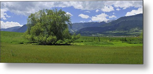 Beautiful Metal Print featuring the photograph Red Lodge Spring Scene Panorama 3 by Roger Snyder
