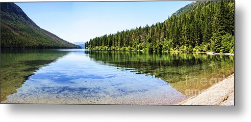 Kintla Lake Metal Print featuring the photograph The Best Beach In Glacier National Park Panorama by Scotts Scapes