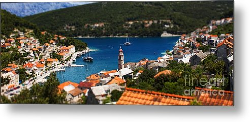 Rooftop Metal Print featuring the photograph Tiny Inlet by Andrew Paranavitana