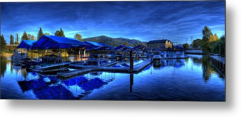 Landscape Metal Print featuring the photograph Sandpoint Marina And Power House 3 by Lee Santa