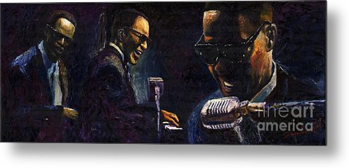 Jazz Metal Print featuring the painting Jazz Ray Charles by Yuriy Shevchuk
