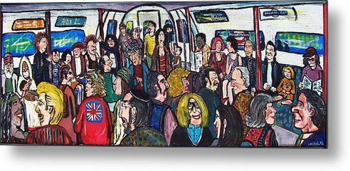 People Metal Print featuring the painting Mind The Gap by Richard Hubal