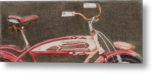 Bicycle Metal Print featuring the drawing Roadmaster by Glenda Zuckerman