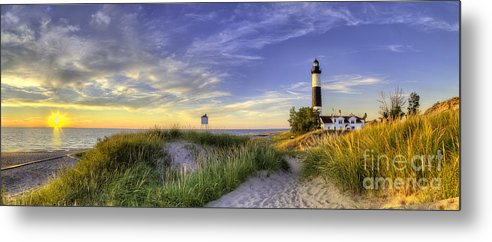 Big Sable Metal Print featuring the photograph Big Sable Sunset by Twenty Two North Photography