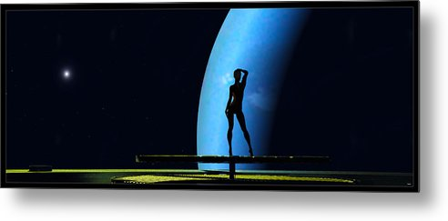 Scifi Metal Print featuring the digital art Nude Amongst The Stars... by Tim Fillingim