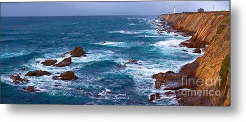 Landscape Metal Print featuring the photograph Point Arena Lighthouse by Don Hall