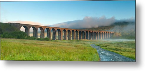 Horizontal Metal Print featuring the photograph Ribblehead Viaduct, Yorkshire Dales by Chris Hepburn