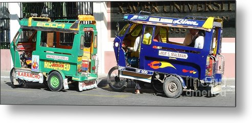 Jeepney Metal Print featuring the photograph Jeepney 09 by Mike Holloway