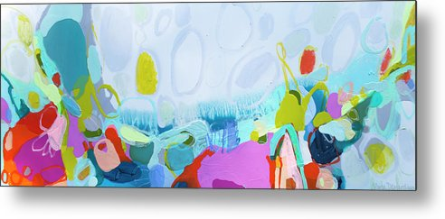 Abstract Metal Print featuring the painting Just Sing by Claire Desjardins