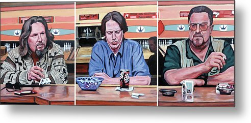 The Big Lebowski Metal Print featuring the painting Pause For Reflection by Tom Roderick