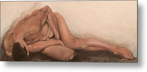 Figurative Metal Print featuring the painting Sleep by Jane Simpson