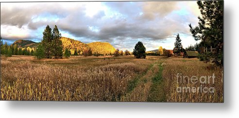 Barn Metal Print featuring the photograph The Field Of Dreams by Victor K