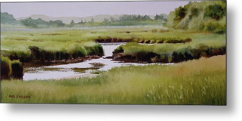 Creek Metal Print featuring the painting Yarmouthport Marsh by Karol Wyckoff