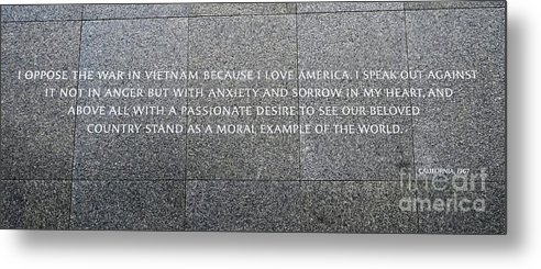Martin Luther King Memorial Metal Print featuring the photograph Martin Luther King Jr Memorial by Allen Beatty