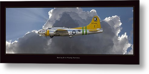 B-17 Flying Fortress Framed Prints Metal Print featuring the photograph Boeing B-17 by Larry McManus