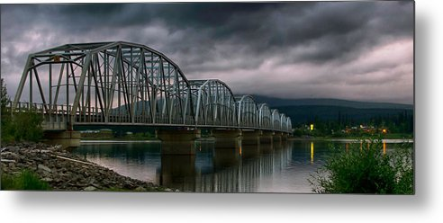 Bridge Metal Print featuring the photograph Bridge To Teslin by Gary O'Boyle