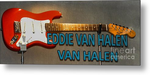 Eddie Van Halen Metal Print featuring the photograph Eddie Van Halen Guitar by Gary Keesler