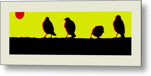 Birds Metal Print featuring the digital art End Of Another Hectic Day by Ck Gandhi