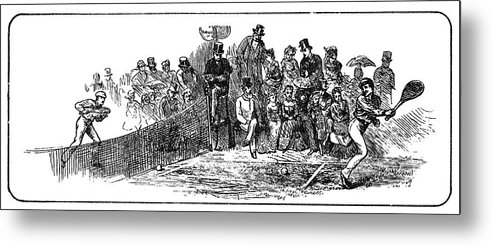1879 Metal Print featuring the painting Tennis Wimbledon, 1879 by Granger