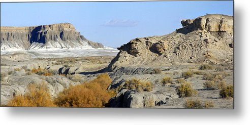Surreal Metal Print featuring the photograph Utah Outback 42 Panoramic by Mike McGlothlen