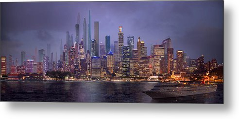 City Metal Print featuring the digital art Sydney's Future by Virginia Palomeque