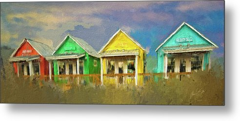 Cabins Metal Print featuring the digital art 4 Of A Kind by Dale Stillman