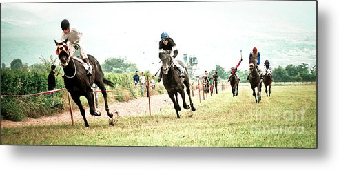 Horse Metal Print featuring the photograph Gallop by Marijo Basic