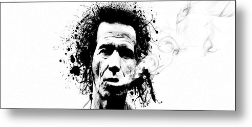 Keith Richards Metal Print featuring the digital art Gimme Shelter by Laurence Adamson