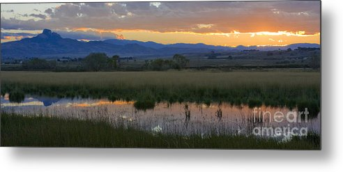Canal Metal Print featuring the photograph Heart Mountain Sunset by Idaho Scenic Images Linda Lantzy